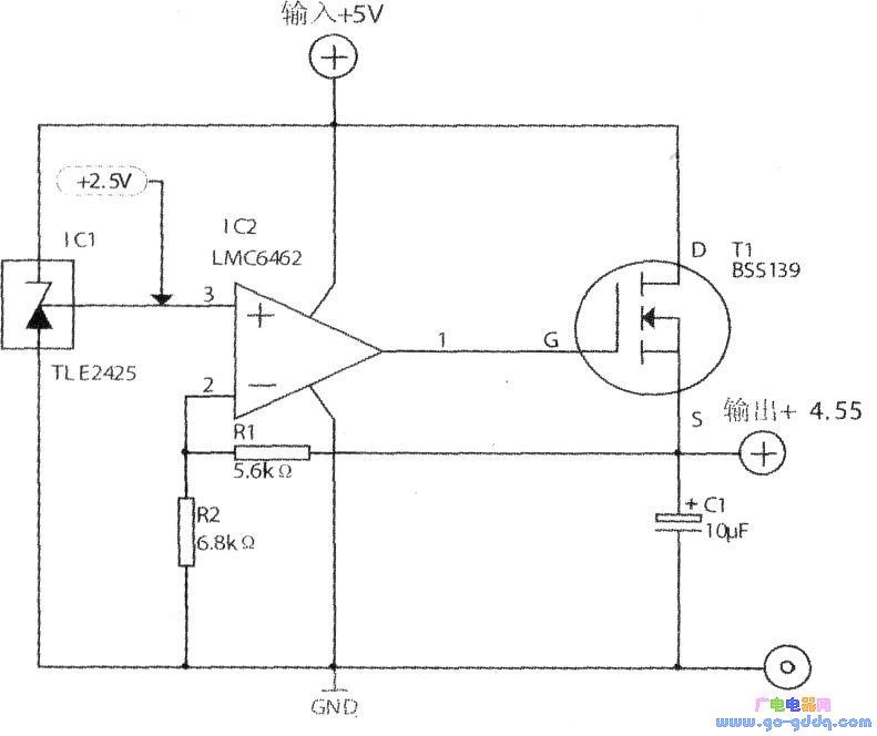 低压差线性稳压器电路图