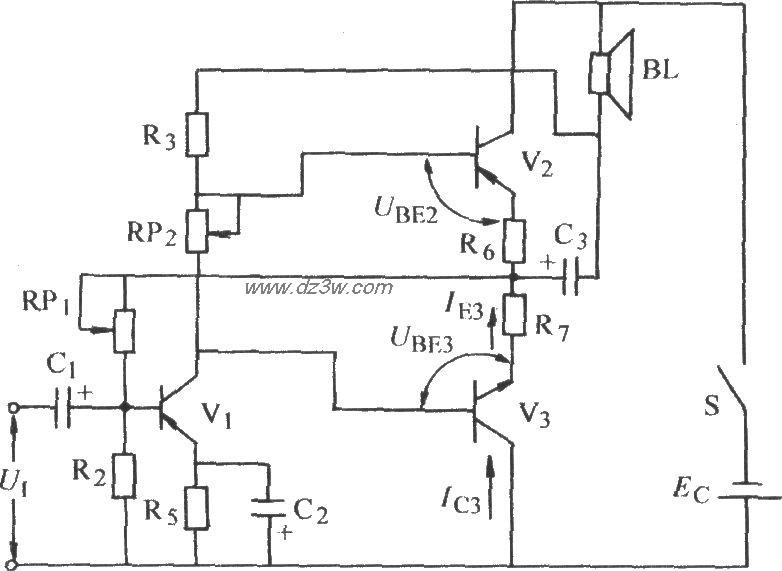 辅助对称式otl功率放大电
