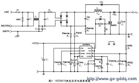 ucc28019典型应用电路原理图
