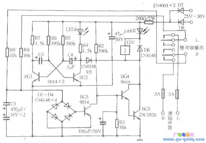采用tda7294设计的hi-fi功放电路