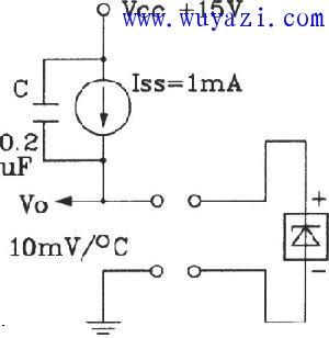 TSV采用恒流源的测温电路图