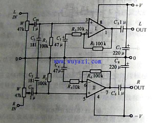 ne5532制作hifi前级放大器电路图