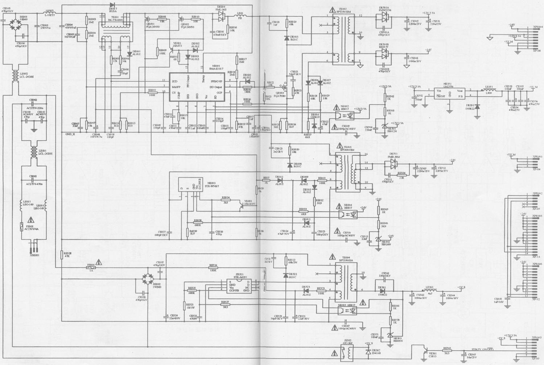 海信TLM3277型液晶彩色电视机电路原理图——电源电路